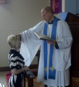 Pastor Galler confirmed Tifaney Sweeden on December 9, 2012, after she completed her instruction in the Christian faith and chose to make the Lutheran confession of that faith by joining the Pilgrim congregation.